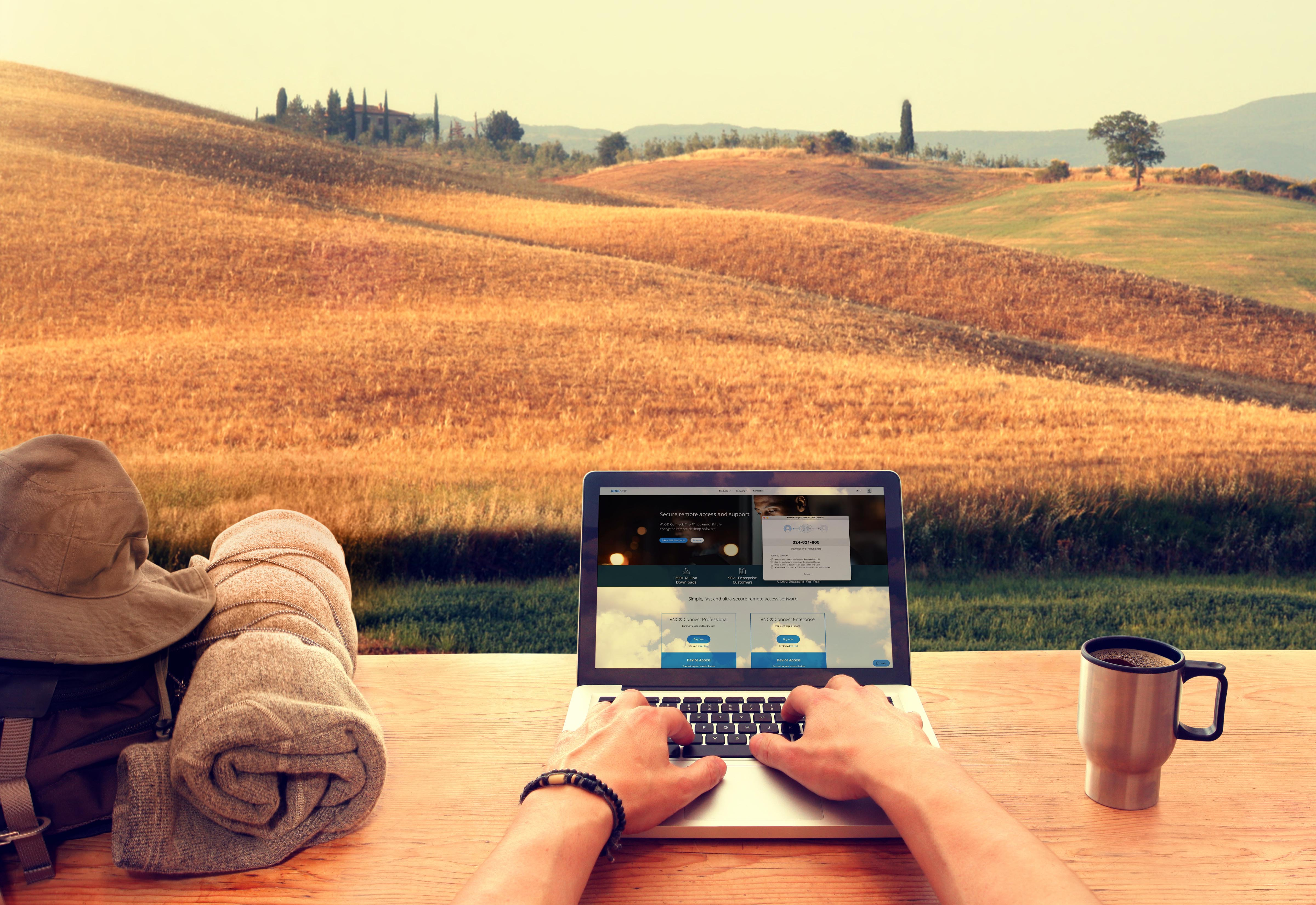Travel journal - the story of a Real VNC digital nomad